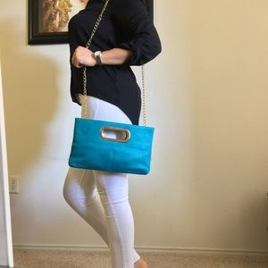 Handbags - NEW🌺Turquoise Pochette🌺 Crossbody Clutch
